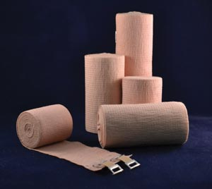 Ambra Le Roy 72650 Premium Elastic Bandage 6 x 5 yds (Stretched) with Double Clip Closure Tan Latex Free (LF) 10/bx 5 bx/cs