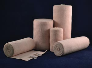 Ambra Le Roy 73250 Economy Elastic Bandage 2 x 5 yds (Stretched) with Standard Clips Tan Latex Free (LF) 10/bx 5 bx/cs