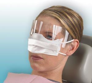 Crosstex GCPAT Patients Safety Mask Shield Earloop White 25/box 8 bx/cs