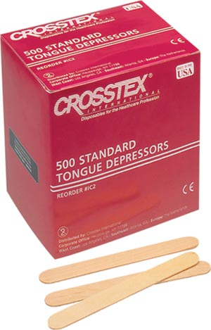 Crosstex IC Tongue Depressor Senior 6 500/bx 10 bx/cs