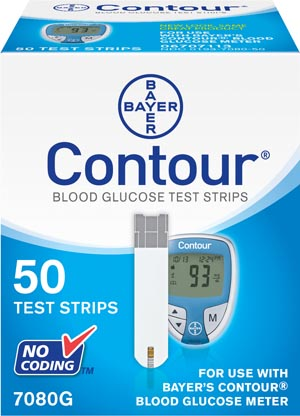 Ascensia 7080G Test Strips (Contour 50s) For 9545 Meters CLIA Waived 50/bx