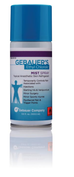 Gebauer 0386-0001-02 Mist Spray 3½ fl oz Aerosol Can (For Sales in the US Only) (Rx) (Item is considered HAZMAT and cannot ship via Air - See Vendor details page for more information)