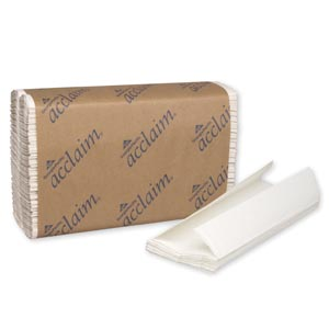 "Georgia-Pacific 20603 C-Fold Paper Towels Paper Band White 10¼ x 13¼"" Sheets 240 ct/pk 10 pk/cs"