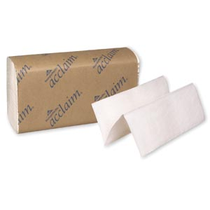 "Georgia-Pacific 20204 Multifold Towels Paper Band White 9¼ x 9½"" 250 ct/pk 16 pk/cs"