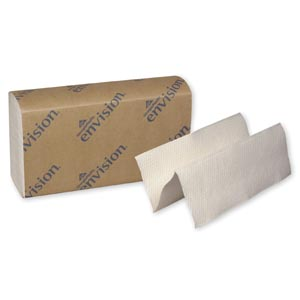 "Georgia-Pacific 24590 EPA Compliant Multifold Towels Paper Band White 9¼ x 9½"" 250 ct/pk 16 pk/cs"