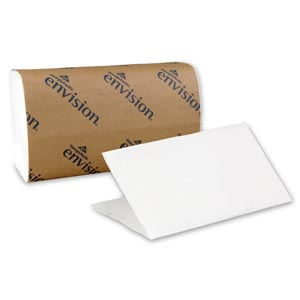 "Georgia-Pacific 20904 Singlefold Paper Towels Paper Band White 10¼ x 9¼"" Sheets 250 ct/pk 16 pk/cs"
