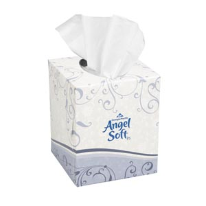 "Georgia-Pacific 46580 Premium Facial Tissue Cube Box White 7.65 x 8.85"" 96 sht/bx 36 bx/cs"