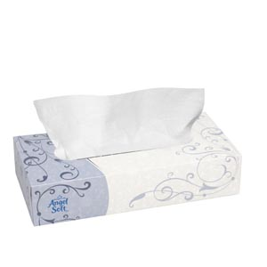 "Georgia-Pacific 48580 Premium Facial Tissue Flat Box White 7.65 x 8.85"" 100 sht/bx 30 bx/cs"