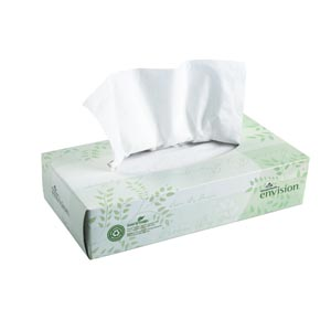 "Georgia-Pacific 47410 EPA Compliant Facial Tissue Flat Box White 8 x 8.33"" 100 sht/bx 30 bx/cs"