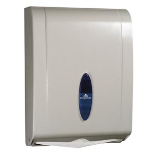 "Georgia-Pacific 56630/01 White Combination C-Fold/ Multifold Paper Towel Dispenser 11.1W x 5½""D x 15.4""H 1/cs"