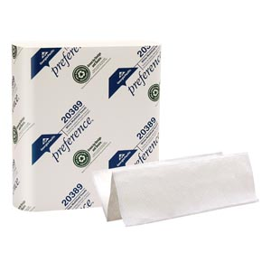 "Georgia-Pacific 20389 Multifold Paper Towels Paper Band White 9¼ x 9½"" Sheets 250 ct/pk 16 pk/cs"