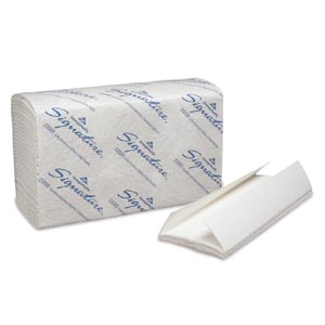 "Georgia-Pacific 23000 Premium C-Fold Paper Towels 2-Ply Paper Band White 10¼ x 13¼"" Sheets 120 ct/pk 12 pk/cs"