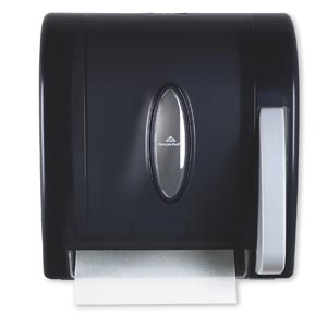 "Georgia-Pacific 54338 Vista Translucent Smoke Hygienic Push Paddle Roll Paper Towel Dispenser 12½W x 10.60""D x 14¼""H 1/cs"