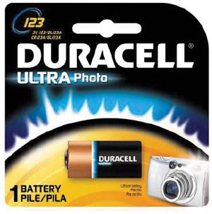 Battery, Lithium, Size DL123A, 3V, 6/bx (UPC# 66191)