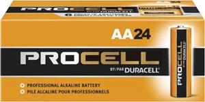 Duracell PC1500BKDCS, DURACELL PROCELL ALKALINE BATTERY Battery, Alkaline, Size AA, 24/bx, 6bx/cs (UPC# 52148) (4133352148), BX