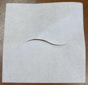 "Headrest Sheet, White, Facial Slit, 12"" x 12"", 1000/cs"