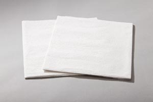 "Drape Sheet, Patient, 40"" x 48"", 2-Ply Tissue, White, 100/cs"