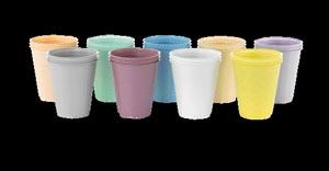 PLASTIC CUP 5 OZ GRN100/SLV 10SLV/CS