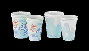 Paper Cup, 5 oz, Bubbles Design, 100/slv, 10slv/cs
