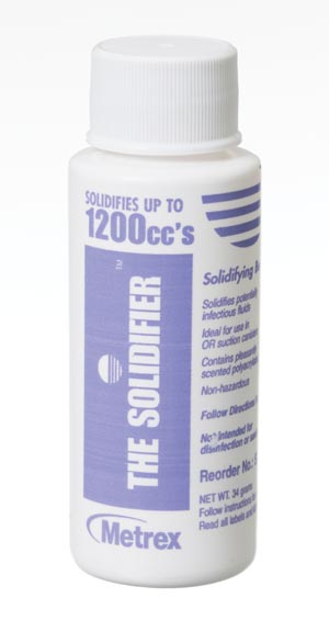 Metrex SD1200 Fluid Solidification System, 12K, Solidifies Up to 1200cc, 64 btl/cs
