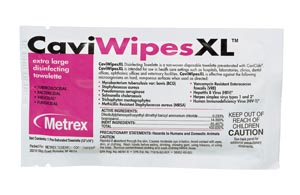 XL CaviWipes, Single, 50/bx, 6 bx/cs  (Item is considered HAZMAT and cannot ship via Air)