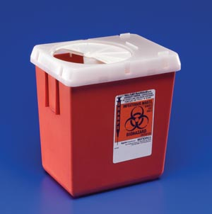 Cardinal Health 1525SA Sharps Container 8 Qt Red 20/cs
