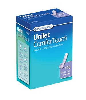 Unilet ComforTouch Lancet, Ultra Thin, 30G, Purple, 100/bx