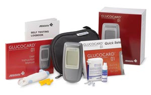 Arkray 741100 Blood Glucose Meter Kit Includes: 1 Meter 1 Lancing Device 10 Lancets 10 Strips 1 Control Solution Logbook User Manual Carrying Case & 1 Battery CLIA Waived (Expiry date lead 90 days)