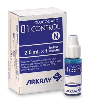 Arkray 740006 Control Solution 1 Bottle Normal 1 Bottle High CLIA Waived (Expiry date lead 90 days)