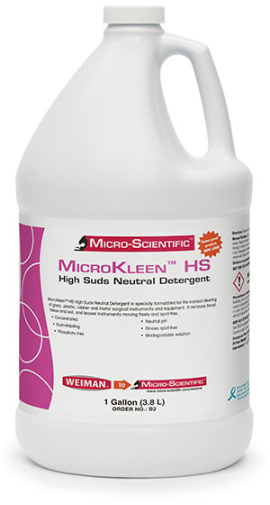Micro-Scientific B2 High-Suds Neutral Liquid Detergent Gallon For Manual & Automatic Wash 4/cs