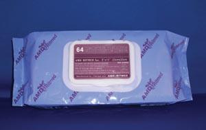 "AMD-Medicom A40002 Washcloth 10 x 13"" Pre-Moistened 64 wipes per soft pack 8 pk/cs"