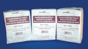 """AMD-Medicom A6902 Gauze Bandage 2 x 131"""" Non-Sterile 12/pk 8 pk/cs"""