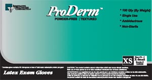 IHC 155050 Gloves Exam X-Small Latex Non-Sterile PF Textured Polymer Bonded 100/bx 10 bx/cs