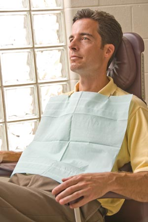 "Graham Medical 16185 Dental Towel TTP 13 x 19"" White 500/cs"