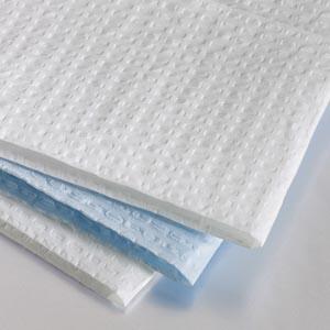 "Graham Medical 175 Tissue-Overall Embossed Towel 13½ x 18"" White 2-Ply 500/cs"