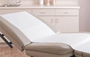 "Graham Medical 52166 Tissue Poly Stretcher Sheet 40 x 90"" White/Blue 50/cs"