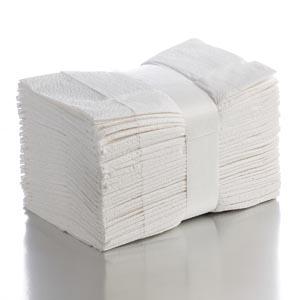 "Graham Medical 50363 Fanfold Drape Sheet White 36 x 40"" 2-Ply 100/cs"