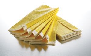 """Graham Medical 54849 Blanket 54 x 84"""" Yellow/ White Poly/ Tissue 5/bg 5 bg/cs  (DO NOT USE FOR PATIENT TRANSFER!)"""