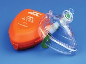 ADC 4053 CPR Valve Mask Resuscitator In case Orange