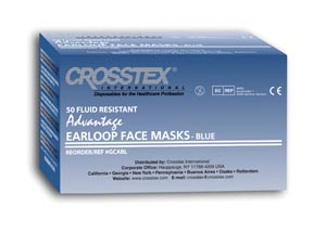 Crosstex GCABL Mask Latex Free (LF) Blue 50/bx 10 bx/cs