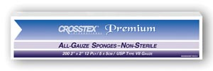 "Crosstex ENC212 Sponge 2 x 2"" 12-Ply 8000/cs"