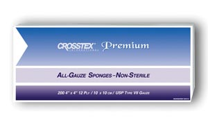 "Crosstex ENC412 Sponge 4 x 4"" 12-Ply 2000/cs"