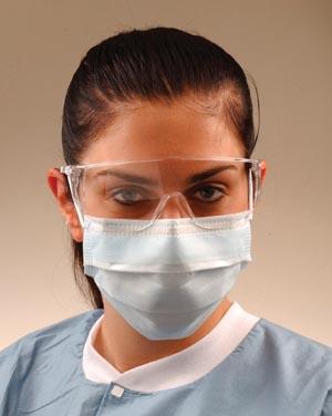 Crosstex GCPWS Ultra Sensitive Mask Shield White Comfort Cushion No Fog Strip Latex Free (LF) 25/bx 4 bx/ctn