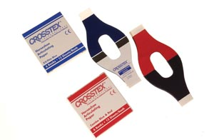 Crosstex TPH Articulating Paper Horseshoe Red/ Blue 12 sheets/bk 6 bk/bx