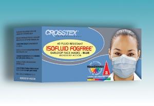 Crosstex GCICXS Mask Latex Free (LF) Sapphire 40/bx 10 bx/ctn