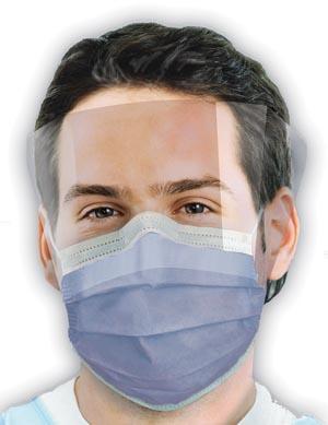Crosstex GCIPWT Mask Latex Free (LF) Turquoise 25/bx 4 bx/ctn