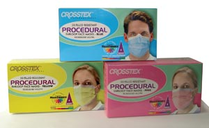 Crosstex GCPPK Mask Pink Latex Free (LF) 50/bx 10 bx/ctn