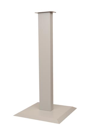 "Bowman KS010-0412 Floor Stand All Steel Holds a Variety of Respiratory Hygiene Stations Assembly Hardware Included Quartz Powder Coated Steel 18W x 36 1/16""H x 18""D 1/cs (Made in USA)"