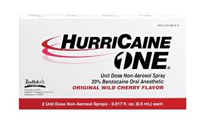 Beutlich 0283-0610-11 HurriCaine ONE Unit Dose Non-Aerosol Spray 0.5mL 2/bx