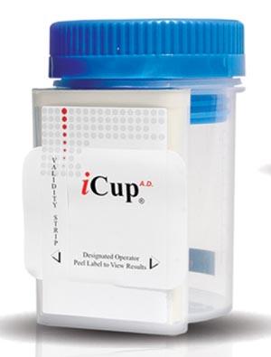 Alere I-DUA-147-012 Drug Test iCup A.D. (OX SG Ph) Tests For COC THC OPI & mAMP 25/bx